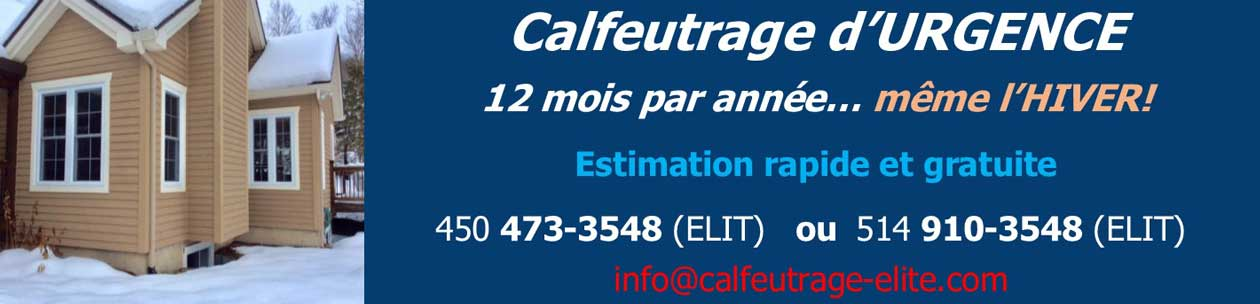 calfeutrage hiver