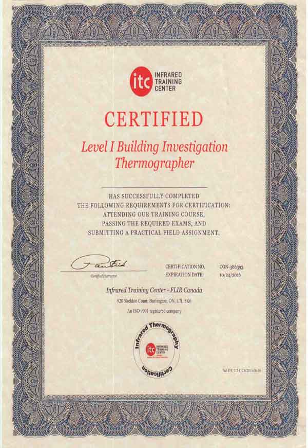 certification thermographie