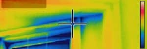 Infrared air infiltration thermography