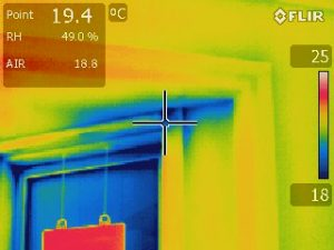 Thermographie infrarouge infiltration d'air