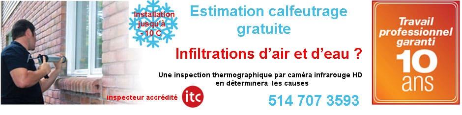 inspection calfeutrage